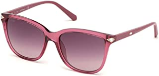 SWAROVSKI Women's Sunglasses Shiny Pink Frame with Gradient Bordeaux Lenses