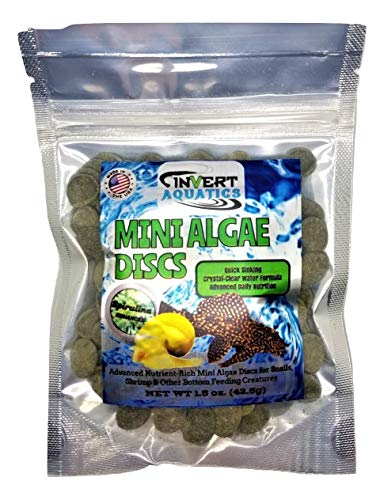 Invert Aquatics Mini Algae Discs - Sinking Diet for Snails,...