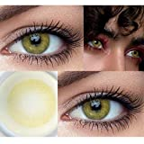 MAGISTER Pack Lentillas de Hidrogel blandas 1 par Lentes de contacto color verde sin graduación. Duración: 12 meses. Con estuche contenedor y 10ml de solución. Color Verde