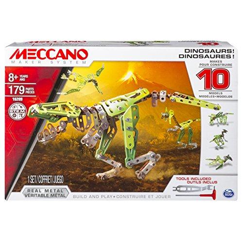 Meccano 6033323 - Juego de Construcción - Dinosaurios 10 Modelos