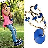 DSGYZQ Cuerda de Escalada con Plataformas y Asiento de Swing de Disco Accesorios para niños para niños,Azul