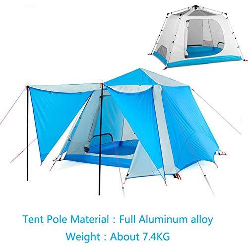 Aoguhn Tent, automatische tent, outdoor-camping, 4-6 persoons party-paviljoentent, vier seizoenen, waterdicht, grote camping familietent
