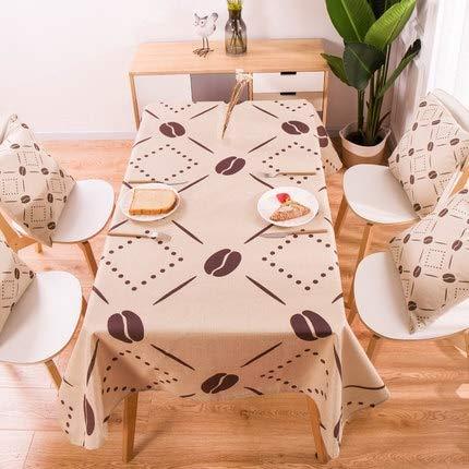 XXDD Geometrische Tropische Pflanzendekoration Tischdecke Tischdecke für Küche Wohnkultur waschbare Tischdecke A12 135x200cm
