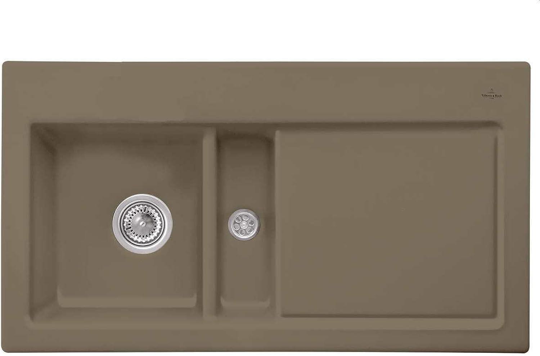 Villeroy & Boch Subway 50 Timber Braun Keramik-Spüle Spülbecken Küche Auflage