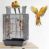 YJIIJY Jaula para Pájaros Portátil con Abertura Superior para Cockatiel Conure Pinson Canaris Agapornis