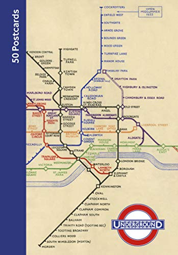 London Underground 50 Postcards [Idioma Inglés]