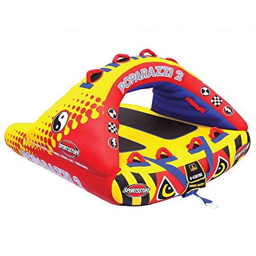 Sportsstuff Poparazzi 2   1-2 Rider Towable Tube for Boating