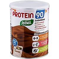 Protein 90 de Santiveri para deportistas (Cacao) Bote de 200 gr: complemento alimenticio para deportistas a base de proteínas, aminoácidos y vitaminas. Apto para veganos