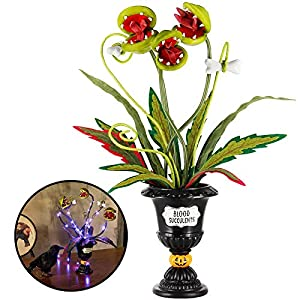 zcaukya halloween table decoration, artificial corpse flower for halloween decor, halloween crafts flowers for dining table, living room decoration indoor silk flower arrangements