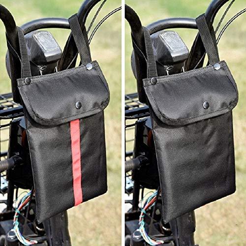 Accesorios para Bicicletas Bolsa de Almacenamiento de Motocicleta eléctrica Pequeña Bolsa de Almacenamiento de la manija Frontal de la Bicicleta, Color: Medio Negro, Zhongxianshangmaoyouxiangongsi