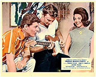 Muscle Beach Party Lobby Card Frankie Avalon Annette Funicello Dick Dale guitar