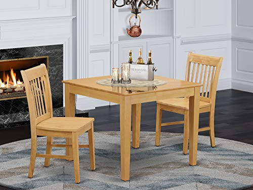 3 Pc small Kitchen Table set - square Kitchen Table and 2 dinette Chairs