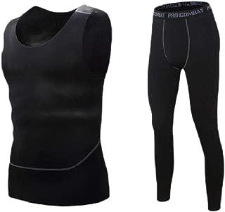 RkYAO Men Stretch Sport Jammer Quick Dry Skinny Activewear Set Top&Pants