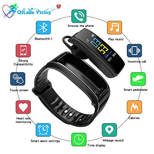 Banda inteligente Deportes Relojes inteligentes con auriculares Bluetooth,presión arterial durante todo el día Monitor de salud para dormir,monitor de fitness,compatible con Android y iPhone