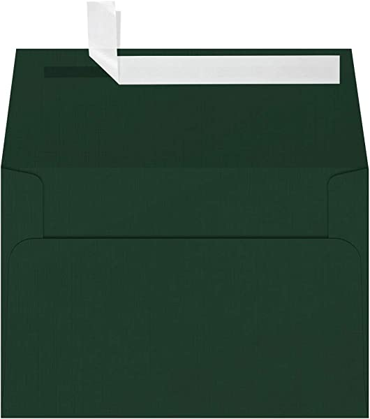 LUXPaper A4 Invitation Envelopes For 4 X 6 Cards In 80lb Green Linen Printable Envelopes For Invitations W Peel And Press Seal 50 Pack Envelope Size 4 1 4 X 6 1 4 Green