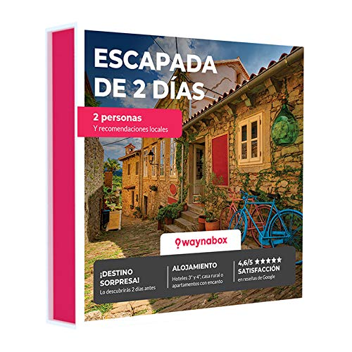 Waynabox Caja Regalo - ¡Escapada de Dos días por Carretera! - con hoteles y Casas Rurales con Encanto - El Mejor Cofre de experiencias para Regalar