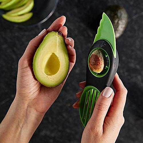 Avocado Slicer,3-in-1 Avocado Savers-Cutter,Pitter,Scooper - Silicone Handle and...