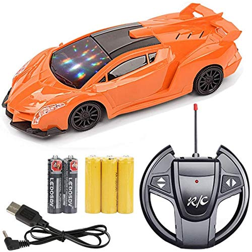 Autoks Children's Remote Control Toy Car Remote Control Car One-button Open Wireless Remote Control Car Sports Car Model Stunt Off-road Car Stunt Cross Country Car Stunt Buggy Gifts Kids Toy
