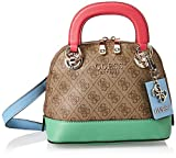 Guess HWSG7737050 - Bolso de mano de piel para mujer Brown Multi Talla única