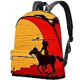 Primitive Frauen Bogenschießen auf Pferd, Laptoprucksack, wasserabweisend, Diebstahlschutz, College Rucksäcke für Frauen, Mädchen, Casual Wandern, Reisen Daypack
