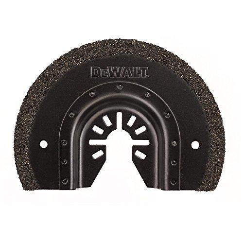DeWalt Hartmetall Segment-Sägeblatt (95 mm, 3 mm Schnittbreite, Multitool-Zubehör- zum Ausfräsen feiner Fliesenfugen und Schlitzen in Putz oder ähnlichen Materialien) DT20717