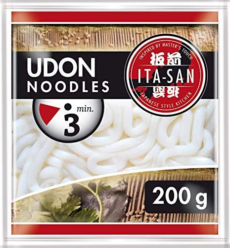 ITA-SAN Udon Nudeln, schnelle und einfache Zubereitung, halal, vegetarisch, vegan, 1 x 200 g