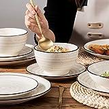 Vancasso Tafelservice Steingut, BONBON 24 teiliges Geschirrset, handbemaltes Kombiservice für 6 Personen, Vintage Aussehen - 8