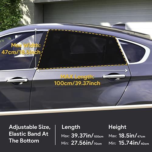 LYUNIT Auto Sonnenschutz Baby, Sonnenschutz Auto mit Zertifiziertem UV Schutz, Sonnenschutzrollo Auto für Seitenfenster Meshmaterial Schützt Mitfahrer, Baby, Kinder & Haustiere, 2 Stück