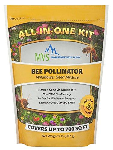 Mountain View Seeds Bee Pollinator Wildflower Seed Mixture