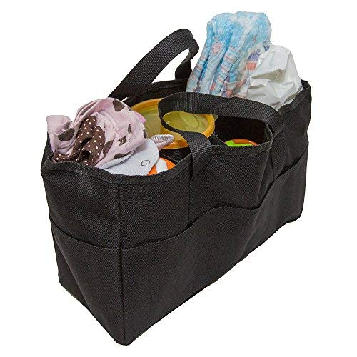 Diaper Bag Insert Organizer for Mom with 5 Outside & 6 Inside Storage Pockets - Transform Any Mom's Purse, Handbag, Backpack, Or Tote Bag