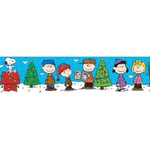 Eureka Peanuts Gang Christmas Deco Trim, Set of 12 Reusable Strips, Each Strip Measuring 37' long