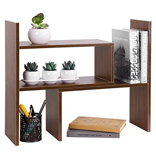 MyGift 4Compartimiento madera estante almacenamiento