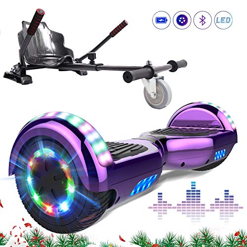 MARKBOARD Self Balancing Scooter 6.5' Hover Scooter Board Elektro Scooter Skateboard - Eingebaute Bluetooth Lautsprecher Hoverkart Gokart Hoverboard