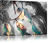 Traumfänger Schwarz/Weiß, Format: 100x70 auf Leinwand,