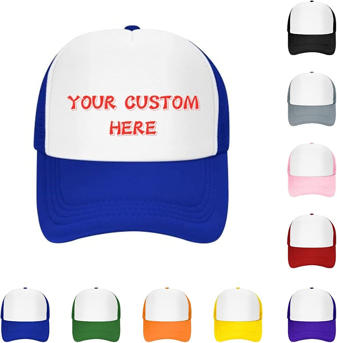 Custom Hats Custom Baseball Cap with Your Text,Personalized Adjustable Trucker Caps Casual Sun Peak Hat for Gifts