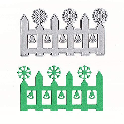 HINK-Home DIY Scrapbooking, Plantillas de Corte de Metal de Copo de Nieve para Manualidades, álbum de Recortes, Tarjeta de Papel, Cocina o Comedor, día de Pascua
