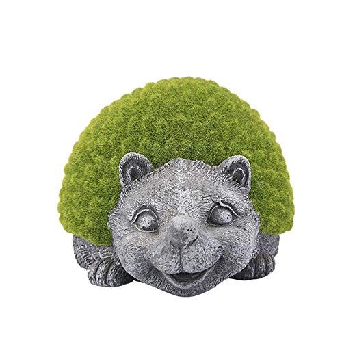 KK Zachary Garden Courtyard Villa Flocking/Hedgehog/Outdoor Landscape/Garden Decoration/Simulation Animal Ornaments/Pot / 23 * 15 * 16cm