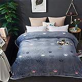 Mantas para Sofá de Franela Manta de paño Grueso y Suave Reversible Manta de Microfibra Manta de Doble Cara súper Suave, mullida, cálida y Ligera para Camas, sofás y sofá-V_230 * 250cm