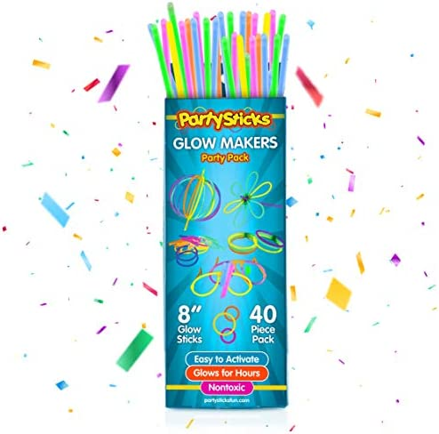PartySticks Moondance Glow Sticks and Connectors 40pk Party Decorations Glow in The Dark Party product image