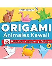 ORIGAMI, Animales Kawaii : +40 modelos simples y fáciles 2: Proyectos de plegado de papel paso a paso. Un regalo ideal para principiantes, niños y adultos!