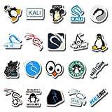 20 PCS Stickers Pack Kali Aesthetic Linux Vinyl Colorful Waterproof for Water Bottle Laptop Bumper Car Bike Luggage Guitar Skateboard