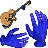 GUANJIAN SuspensióN De Pared para Guitarra De Mano 3D, Soporte De Pared para Guitarra, Colgador De Guitarra En Forma De Mano, Soporte para SuspensióN De Auriculares De Montaje En Pared Azul
