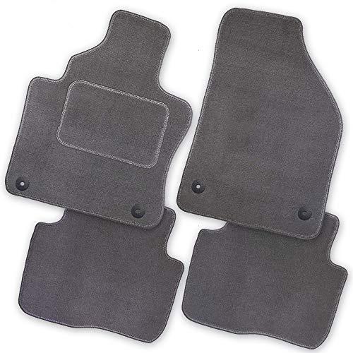 Bär-AfC NI09475 Royal Auto Fußmatten Velours Grau, Rand Kettelung Grau, Textiler Trittschutz, Set 4-teilig, Passgenau für Modell Siehe Details