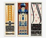 WallBuddy Jugendstil Wiener Secession Poster 3er Set (40cm