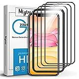 Migimi Protector de Pantalla para iPhone 11/XR, [3 Unidades] Cristal Templado 9H Dureza Anti-Huellas...
