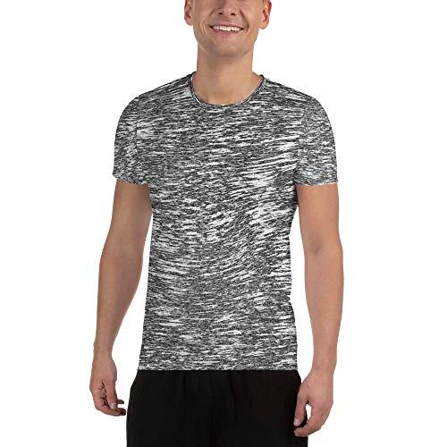 Your Mind Is Your Limit - Camiseta de compresión para Hombre (Transpirable, Ideal para Fitness, Gimnasio y Ocio), Color Blanco y Negro Whisper. L