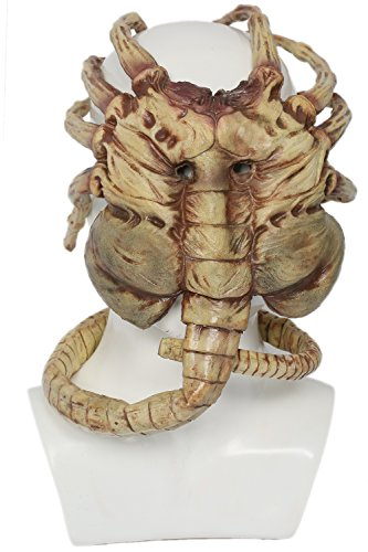 Xcoser Halloween Alien Maske Latex Hunter Cosplay Kostüm Zubehör Film Kleidung Replik Props für Erwachsene Herren Merchandise