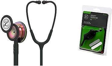 3M Littmann Classic III Monitoring Stethoscope, Rainbow-Finish Chestpiece, Black stem and Headset, Black Tube, 27 inch, 58...