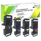 GREENPRINT 4 Colores Cartucho de Tóner Compatible Kyocera TK5230 TK-5230 2600 Páginas para Negro & 2200 Páginas para C M Y para Impresoras Kyocera ECOSYS P5021cdn, P5021cdw, M5521cdn, M5521cdw