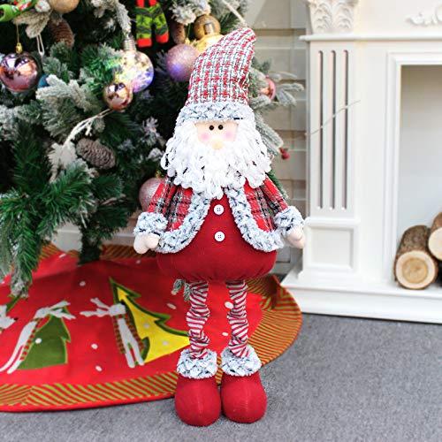 langchao Año Nuevo Decoraciones navideñas Papá Noel Tela Decoración de Ventanas Muñeca Decoración navideña Regalos